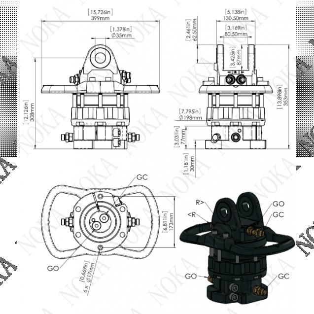 Ротатор CR 600-X35F173
