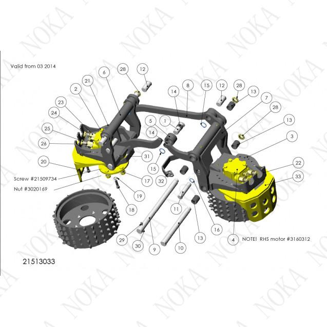 21513033 Механизм протяжки роликов