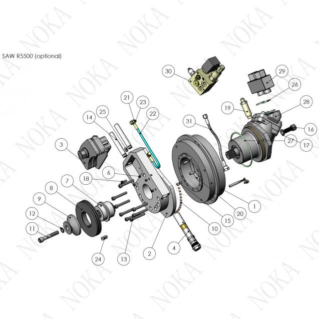 3160373 Пильный механизм с автонатяжением