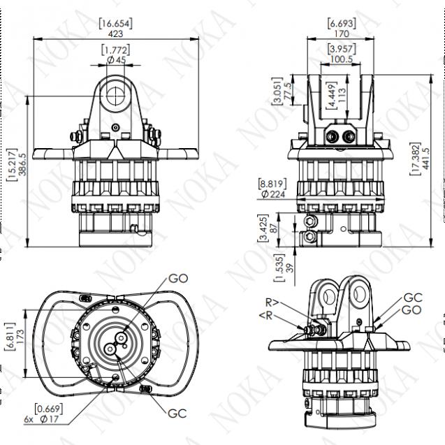 Ротатор CRH 1600-X45F173