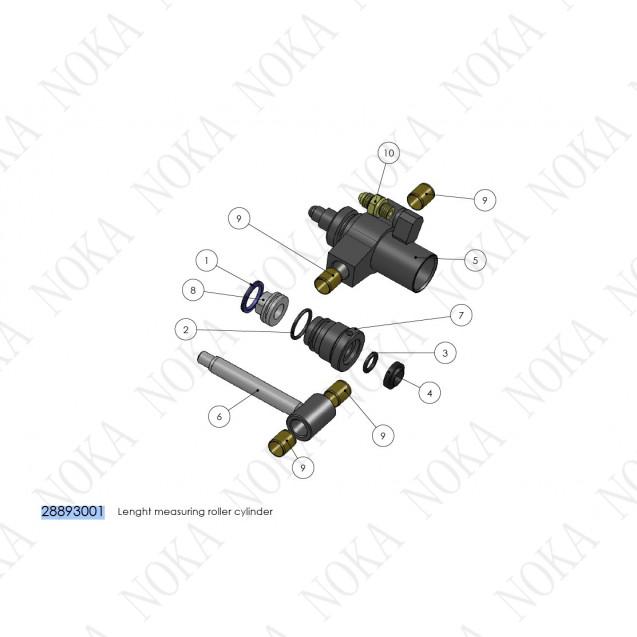 28893001 Гидроцилиндр ролика измерения длины