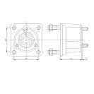 Адаптер-переходник приводной (переход с UNI 3 отв. на 4 отв. ISO)