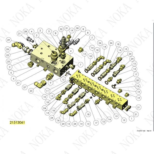 21513061 Гидравлический блок