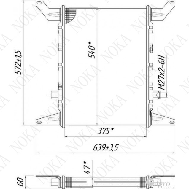 Радиатор масляный 68У.08.3000