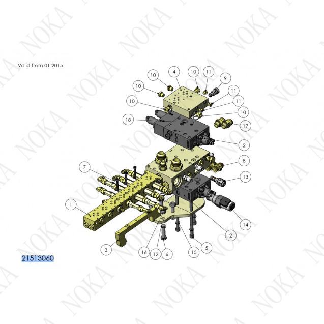 21513060 Гидравлический распределитель ч2