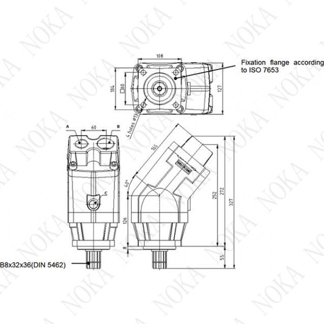 BI110P7IA1 Насос аксиально-поршневой с наклонным блоком 110 см3 (аналог 310.3.112)