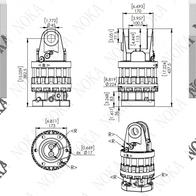 Ротатор CRM 1200-W45F173