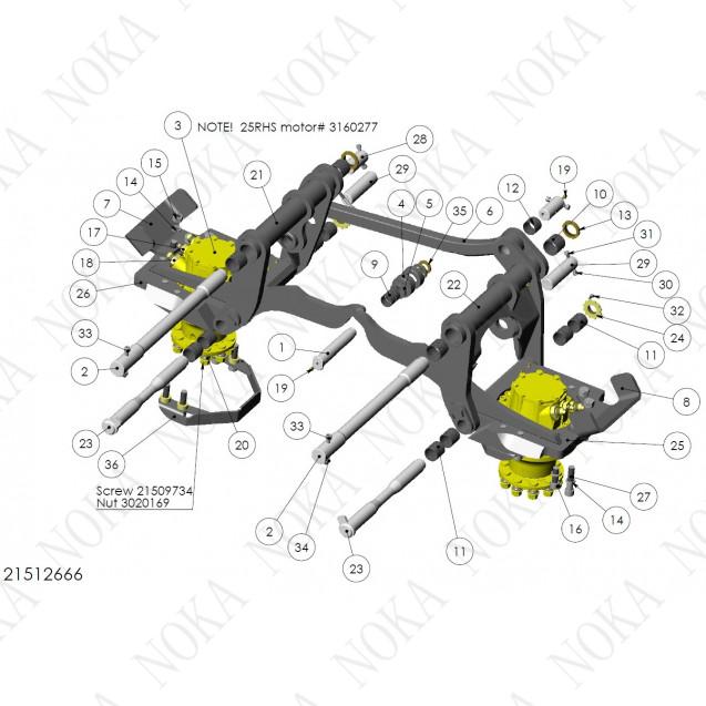 21512666 Механизм протяжки роликов