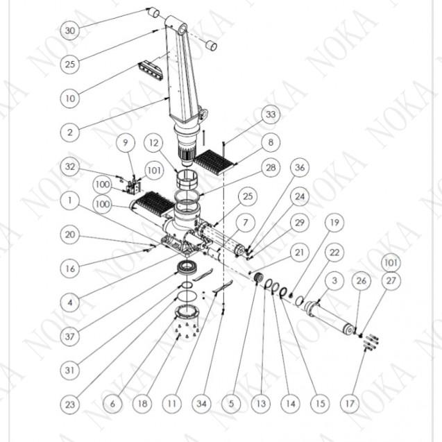 Опорно-поворотное устройство KESLA 600/700