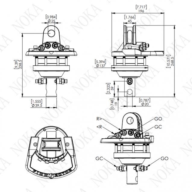 Ротатор CR 100-W25A20