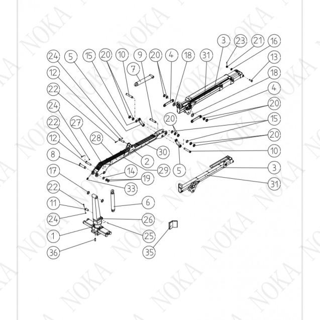 Гидроманипулятор Kesla 600/T